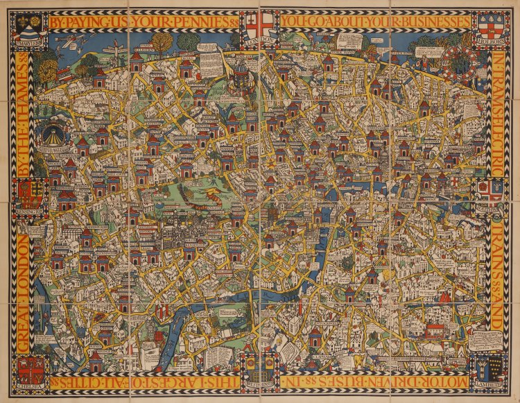 London Town Map.The Wonderground Map Of London Town Barron Maps