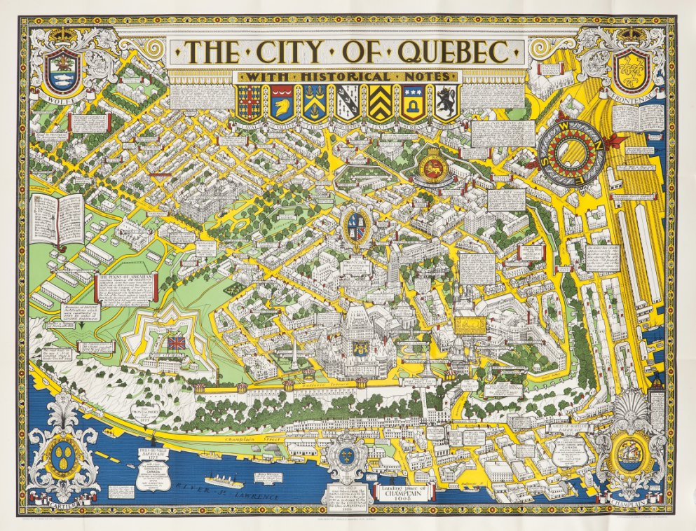 Map of the City of Quebec with Historical Notes  Drawn by S H Maw