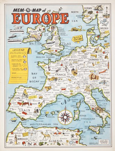 Mem-O-Map of Europe - Barron Maps