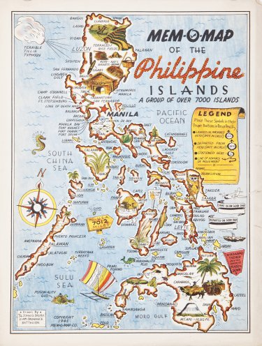Mem-O-Map of the Philippine Islands - Barron Maps