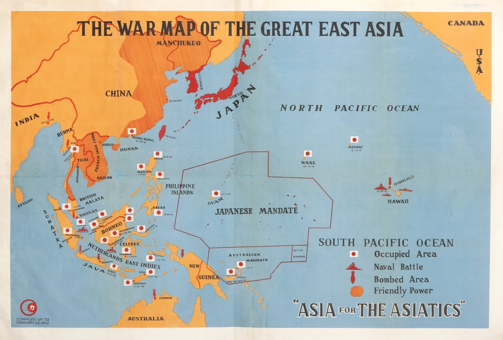 The War Map Of The Great East Asia Barron Maps